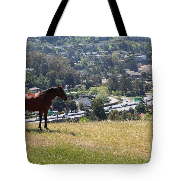 Horse Hill Mill Valley California 5d22663 Tote Bag by Wingsdomain Art and Photography