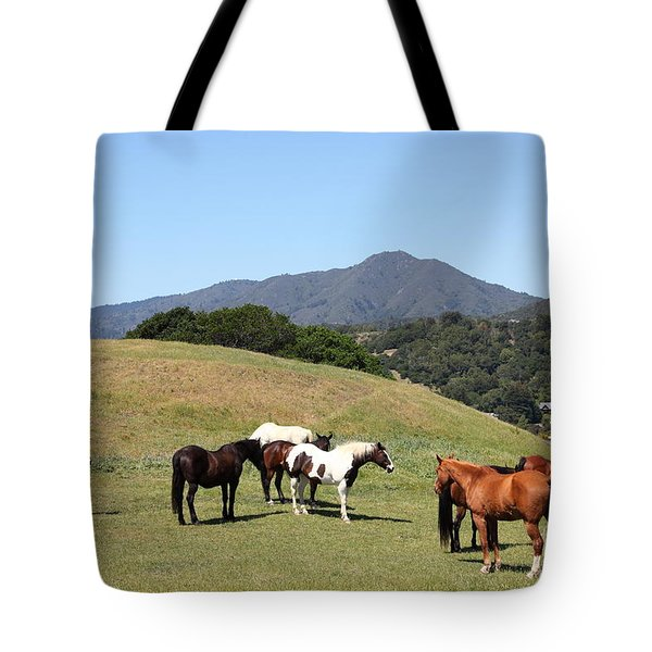 Horse Hill Mill Valley California 5D22672 Tote Bag by Wingsdomain Art and Photography