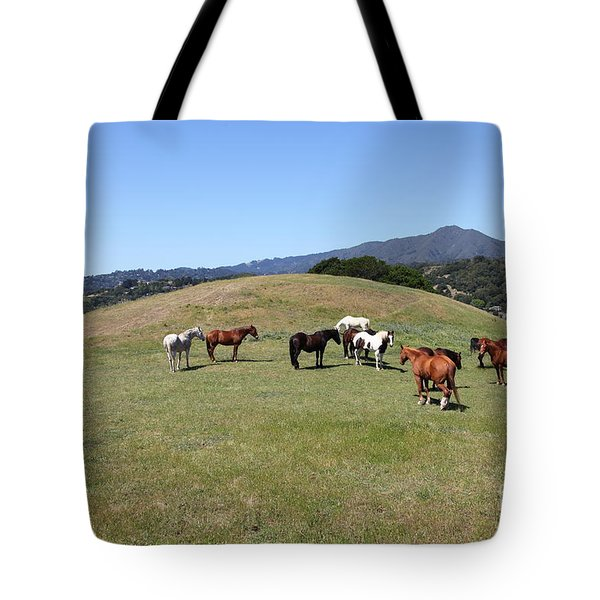 Horse Hill Mill Valley California 5D22673 Tote Bag by Wingsdomain Art and Photography