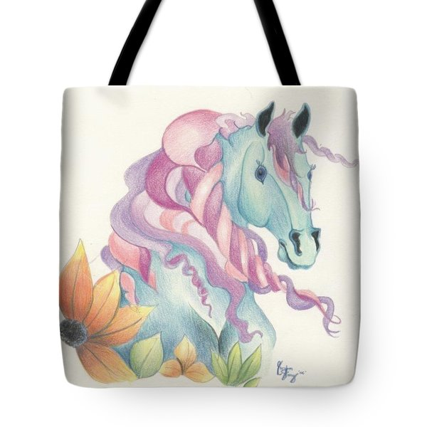 Horse Of A Different Colour Tote Bag by Kirsten Slaney
