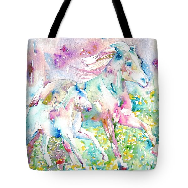 Horse Painting.17 Tote Bag by Fabrizio Cassetta