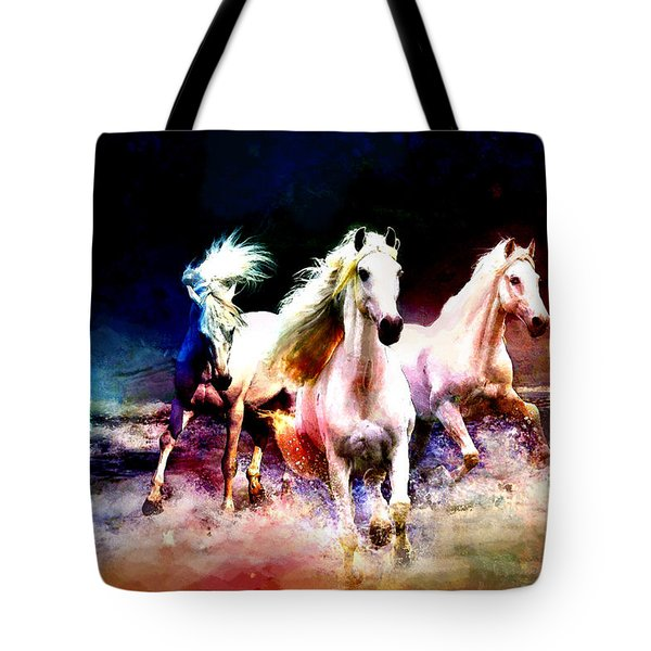 Horse Paintings 002 Tote Bag by Catf