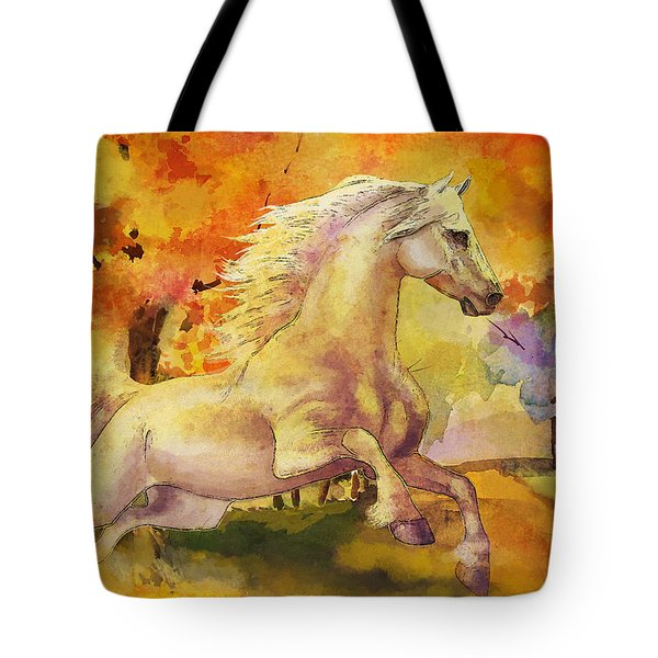 Horse Paintings 003 Tote Bag by Catf
