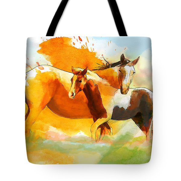 Horse Paintings 013 Tote Bag by Catf