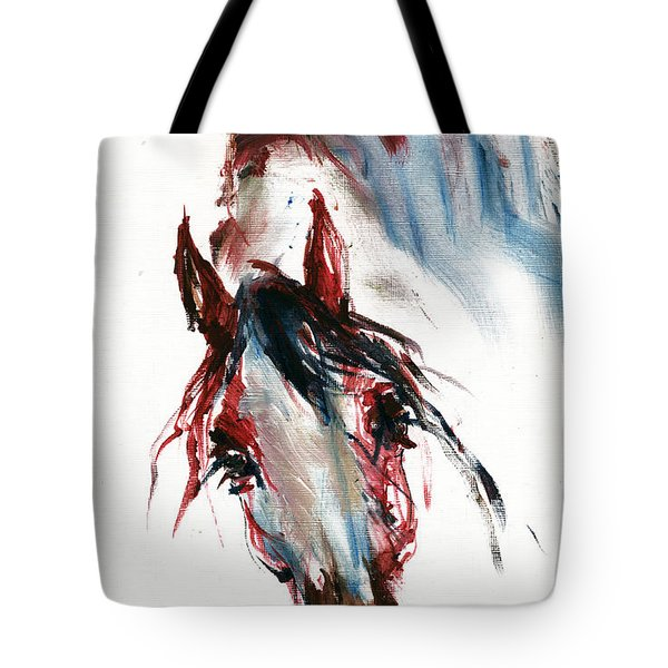 Horse Portrait Tote Bag by Angel  Tarantella