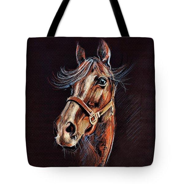 Horse Portrait  Tote Bag by Daliana Pacuraru