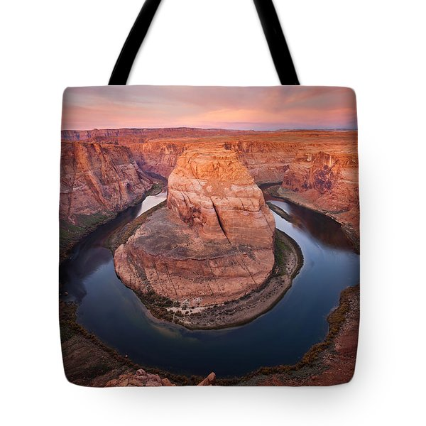 Horseshoe Dawn Tote Bag by Mike  Dawson