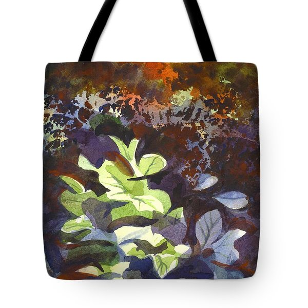 Hostas In The Forest Tote Bag by Kip DeVore