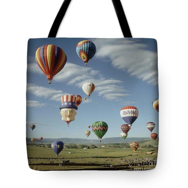 Hot Air Balloon Tote Bag by Jim Steinberg