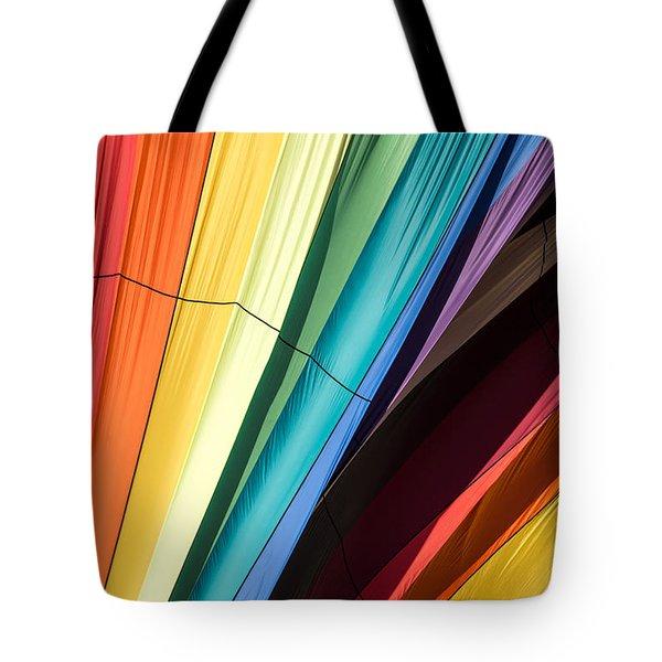 Hot Air Balloon Rainbow Tote Bag by Edward Fielding