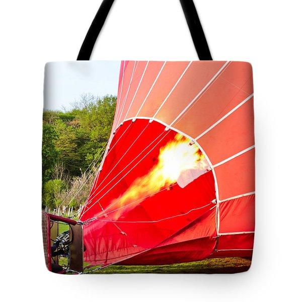 Hot air balloon Tote Bag by Tom Gowanlock