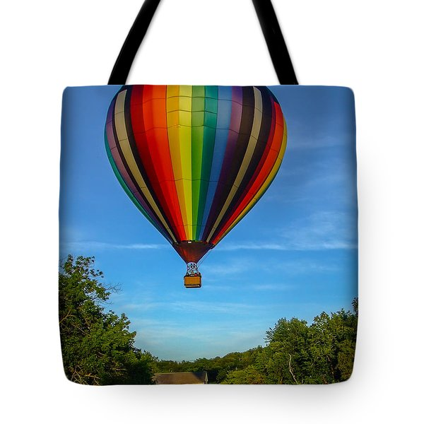 Hot Air Balloon Woodstock Vermont Tote Bag by Edward Fielding