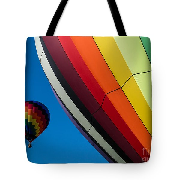 Hot Air Balloons Quechee Vermont Tote Bag by Edward Fielding