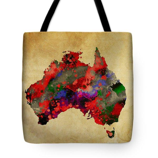 Hot Australia Map Tote Bag by Daniel Hagerman