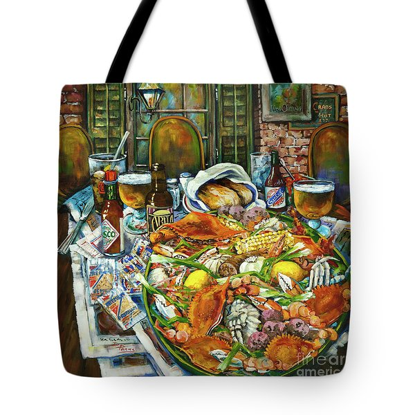 Hot Boiled Crabs Tote Bag by Dianne Parks