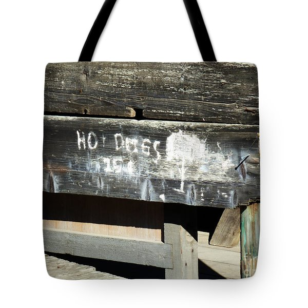 Hot Dogs 15 Cents Tote Bag by Methune Hively
