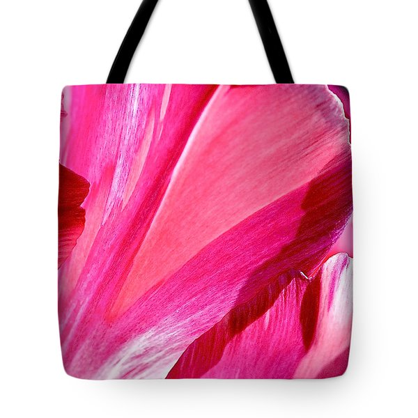 Hot Pink Tote Bag by Rona Black