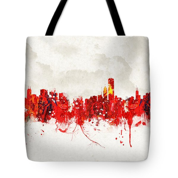 Hot Summer Day In Chicago Tote Bag by Aged Pixel