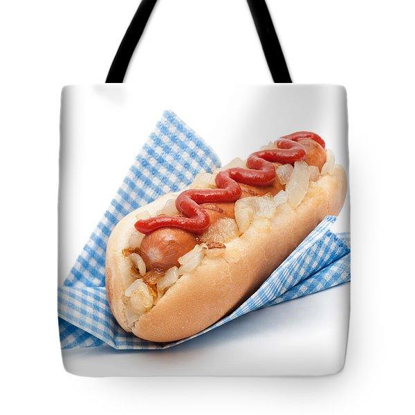 Hotdog In Napkin Tote Bag by Amanda Elwell