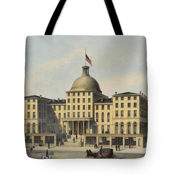 Hotel Burnet Circa 1850 Tote Bag by Aged Pixel