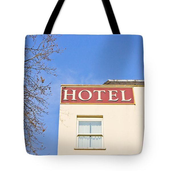 Hotel Tote Bag by Tom Gowanlock