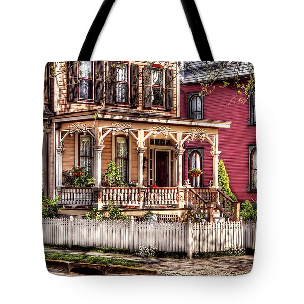 House - Country Victorian Tote Bag by Mike Savad