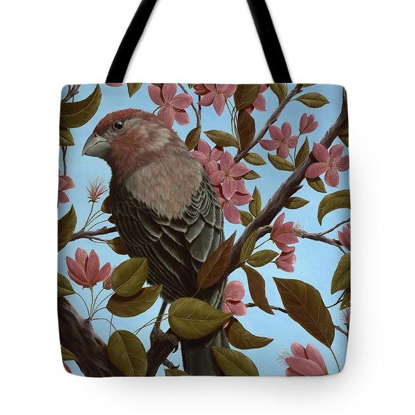 House Finch Tote Bag by Rick Bainbridge