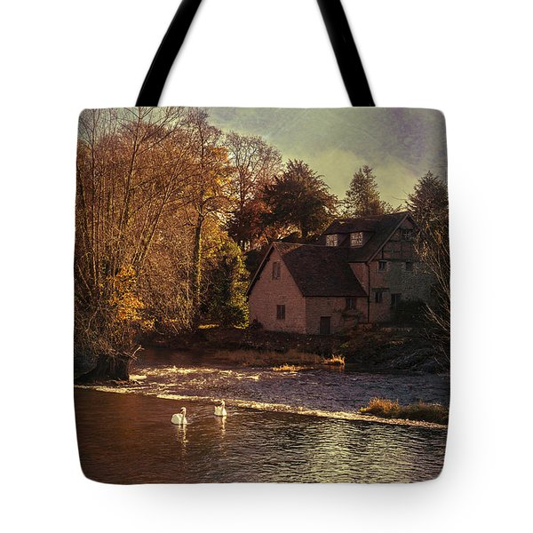 House On The River Tote Bag by Amanda Elwell