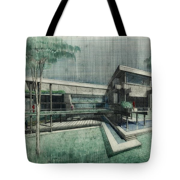 House Perspective 1981 Tote Bag by Mountain Dreams
