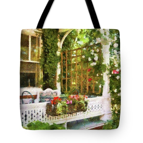 Houses - New Hope PA - Come stay with us  Tote Bag by Mike Savad