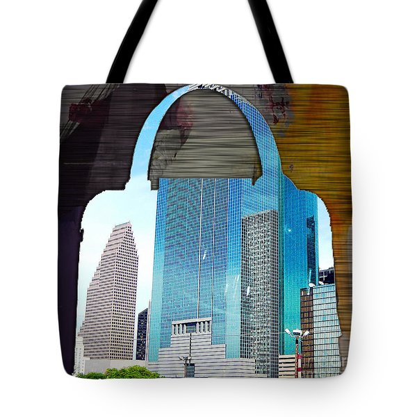 Houston Texas Skyline In A Purse Tote Bag by Marvin Blaine