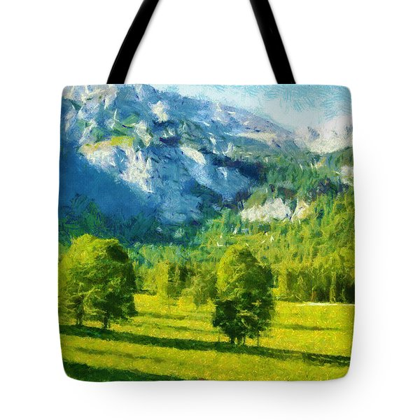 How Green Was My Valley Tote Bag by Ayse Deniz