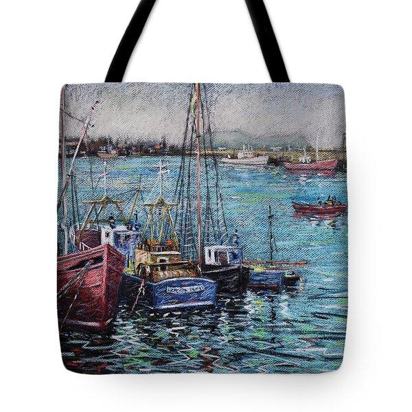 Howth Harbour  Dublin Tote Bag by John  Nolan