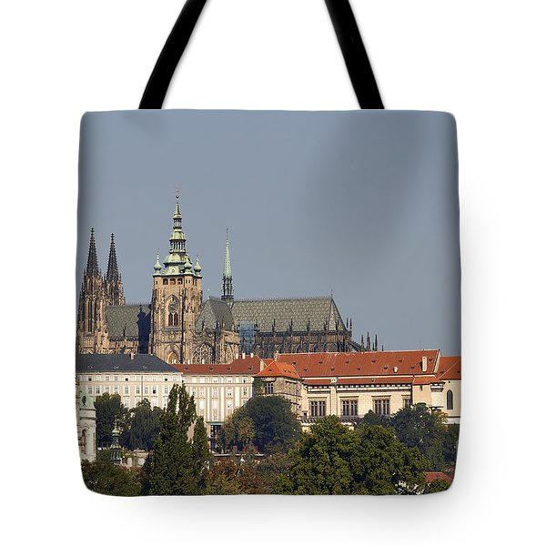 Hradcany - Cathedral Of St Vitus On The Prague Castle Tote Bag by Michal Boubin