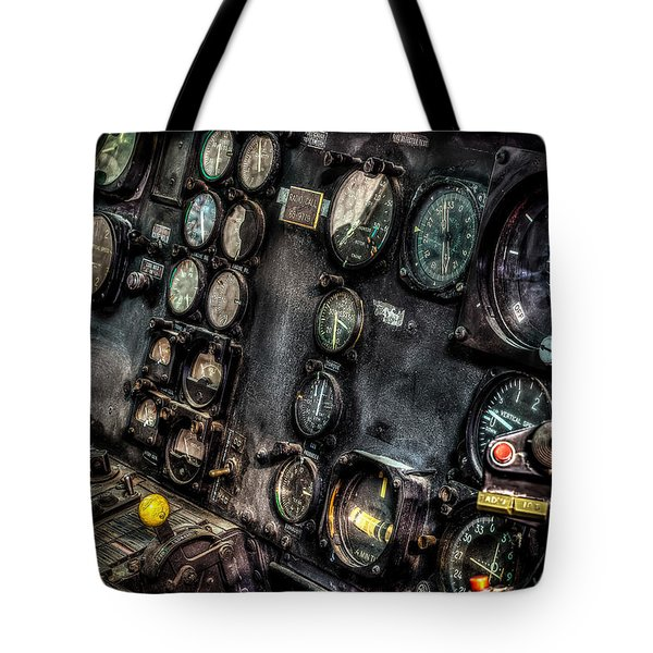Huey Instrument Panel 2 Tote Bag by David Morefield