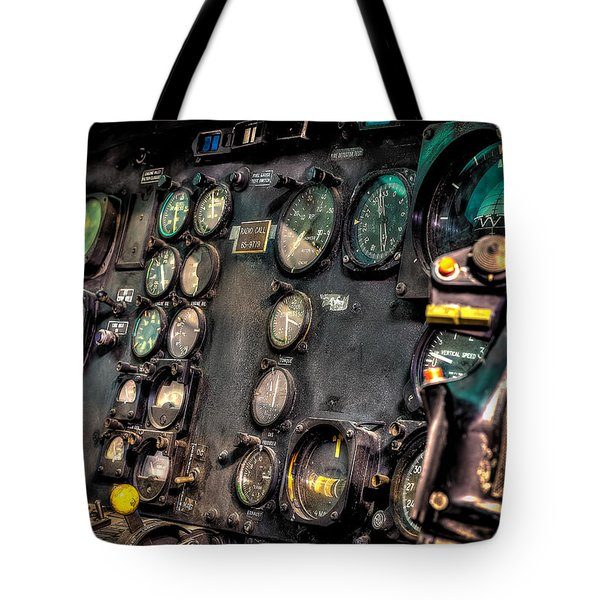 Huey Instrument Panel Tote Bag by David Morefield