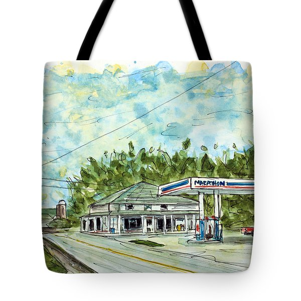 Huff's Market Tote Bag by Tim Ross