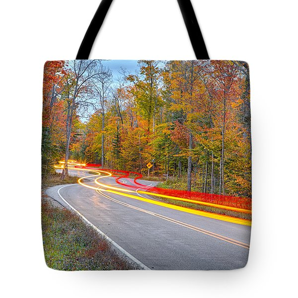 Hugging The Curves Tote Bag by Adam Romanowicz