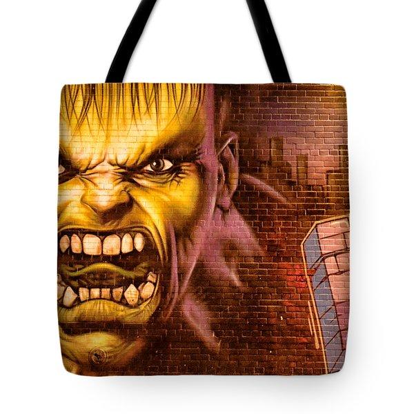 Hulk Graffiti In The Bronx New York City Tote Bag by Sabine Jacobs