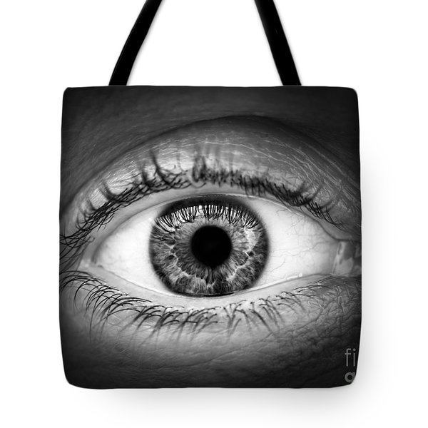 Human Eye Tote Bag by Elena Elisseeva