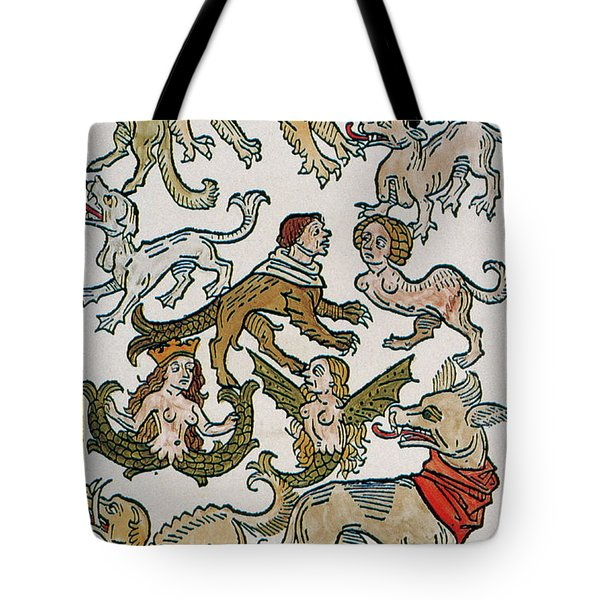 Human Monsters 1493 Tote Bag by Photo Researchers