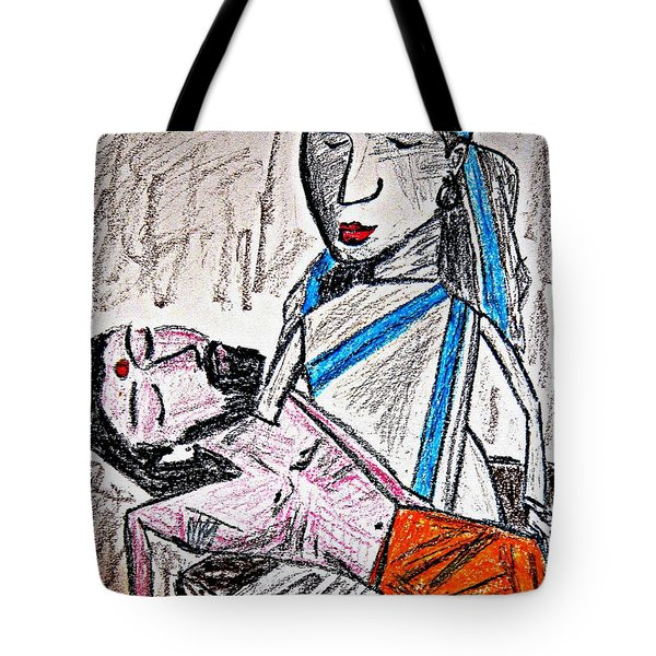 Humanity Tote Bag by Piety Dsilva