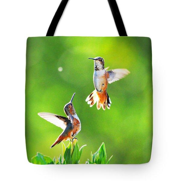 Hummingbird Dance  Tote Bag by Lynn Bauer