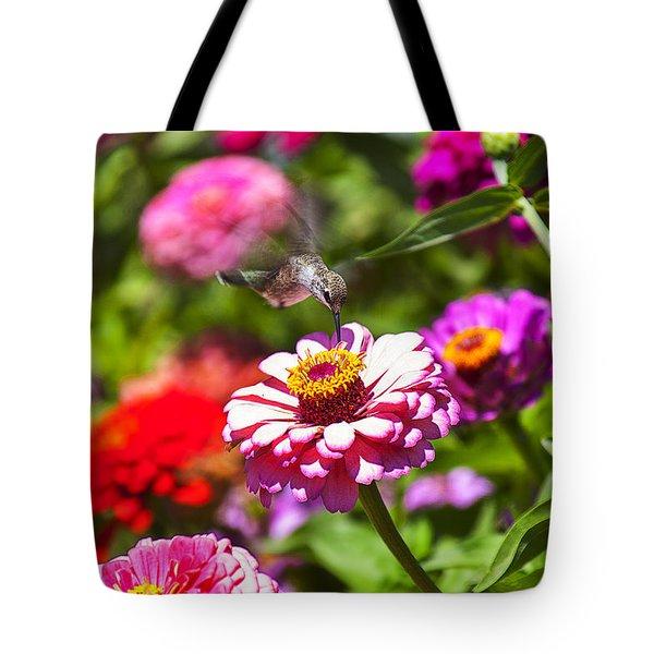 Hummingbird Flight Tote Bag by Garry Gay
