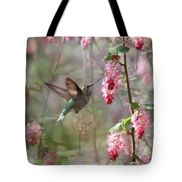 Hummingbird Heaven Tote Bag by Angie Vogel