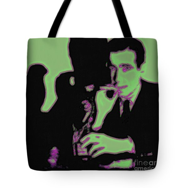 Humphrey Bogart and The Maltese Falcon 20130323 Square Tote Bag by Wingsdomain Art and Photography