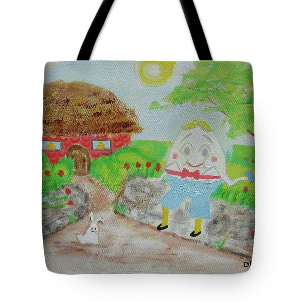 Humpty's House Tote Bag by Diane Pape