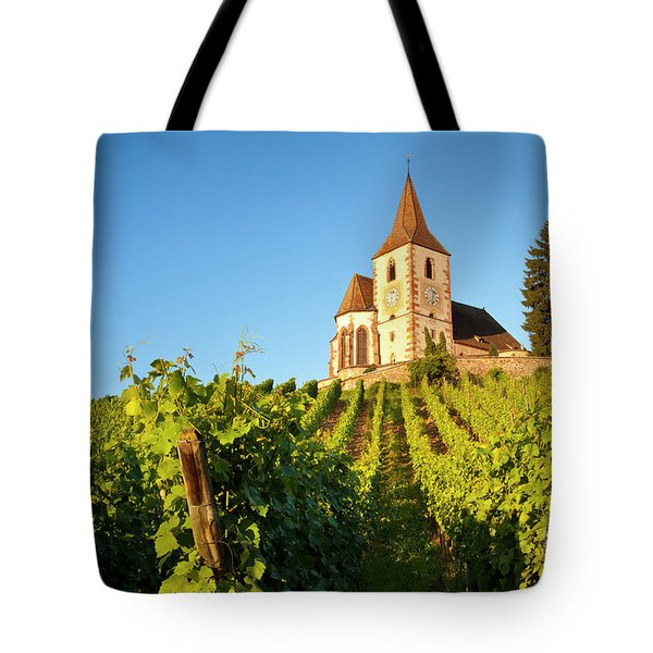Hunawihr Church Tote Bag by Brian Jannsen