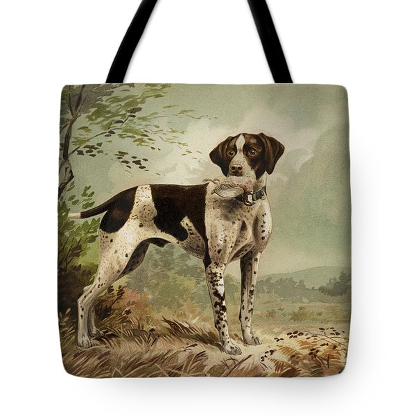 Hunting Dog Circa 1879 Tote Bag by Aged Pixel