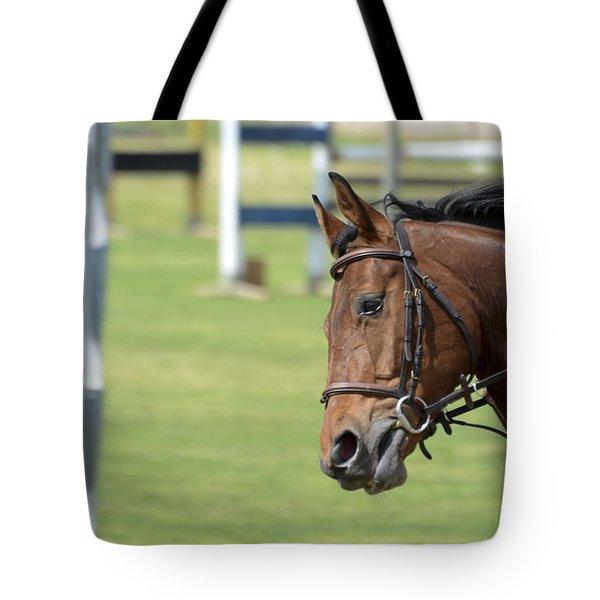 hurdle race Tote Bag by Amir Paz